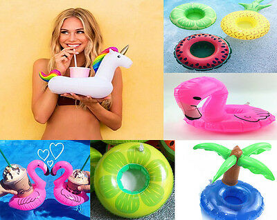 Fashion Fruit Donut Inflatable Drink Can Beer Holder Swimming Pool Boat Toys Hot