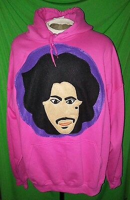 """NEW! W/Tag """"I Want 2 B Your Lover"""" - PRINCE ORIGINAL ART Hoodie. Size: 3XL/2XL."""