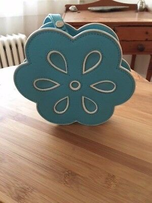 Celine!! Rare collector's item flower clutch - turquoise