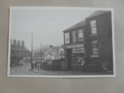 Postcard - Sheffield - Crookes Road - Shop Front - Tram - People - Houses