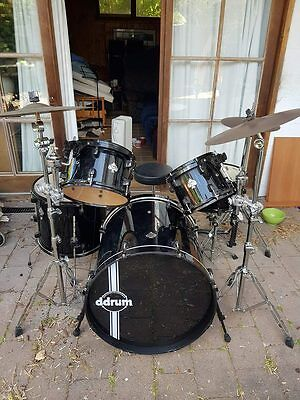 Drum Kit 5  piece Diablo Drum Kit with 2 Zman Crash Cymbals and High Hat