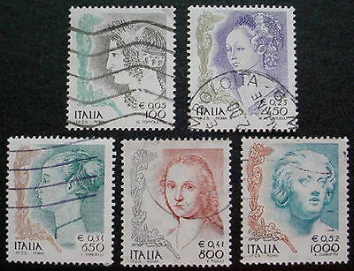 1999 Italy: Women In Art: Set Of 5 Used Stamps: Lot 2