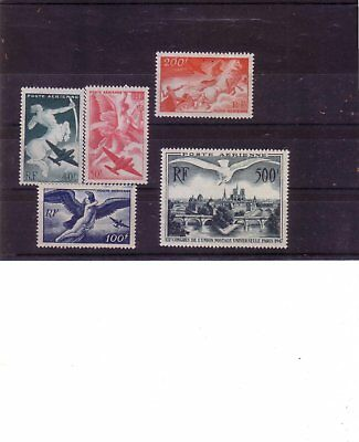 Lot Timbres France Neufs** Poste Aerienne N° 16 A 20 Sans Charniere Ni Trace