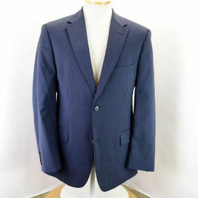 Hugo Boss men's suit,  AU42 large, blue with stripe