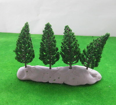 S7828 40pcs Model Pine Trees Deep Green For TT HO Scale Layout 78mm New