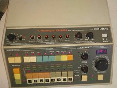 Vintage Roland CompuRhythm CR-8000 Drum Rhythm machine working