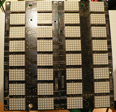 Display board with 32 two colour 5x7 led modules LTP1357AA, and drivers