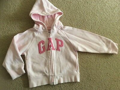 Gap!  Designer Brand Soft Pink Hoodie With Logo Embroidery. Euc, Sz 2