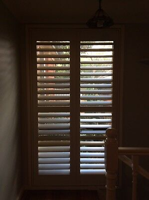 SHUTTER SET DOUBLE SHUTTERS IN FRAME TIMBER OFF WHITE Set3 6A
