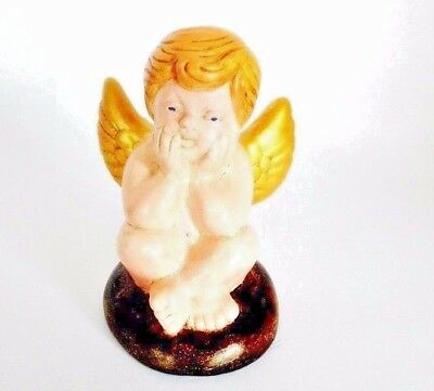 Vintage Antique Beautiful ANGEL Clay Terracotta Handmade Hand Painted Decor