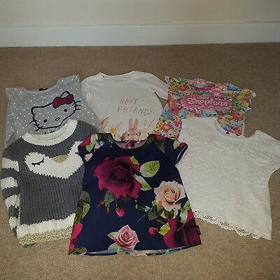 Girls Clothes Bundle, T-shirts, Jumpers Age 7, 8 & 9 Years from Ted Baker, Next.