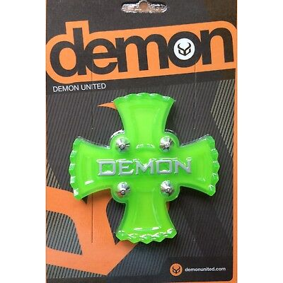 Demon Zeus Green Cross Snowboard Stomp Pad NEW Board Traction Clear Grip