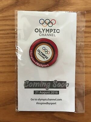 Olympic Channel Red Pin Badge