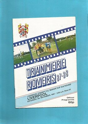 Liverpool Senior Cup Tranmere v Liverpool 1987