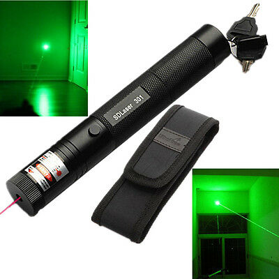 New 10 Miles Military Green 1mW 532nm Laser Pointer Pen Light Zoom Visible Beam