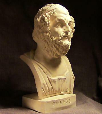 HOMER HISTORY'S GREATEST STORYTELLER Greek Statue Bust ancient replica