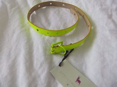STELLA /McCARTNEY KID'S NEON INDIE BELT Cut out Hearts & Stars size M Made in It