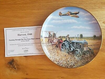 "Danbury Mint plate ""Harvest 1940"" by Trevor Mitchell"