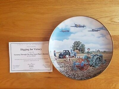 "Danbury Mint plate ""Digging for Victory"" by Trevor Mitchell"