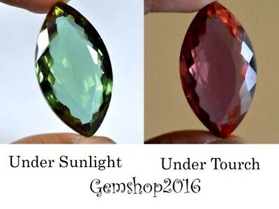 81.60 Ct Marquise Shape EGL Certified Color Changing Alexndrite Gemstone CD4510