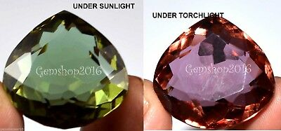 66.30 Ct Pear Shape EGL Certified Color Changing Alexndrite Gemstone CD4646