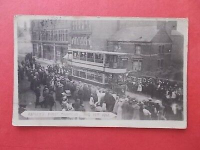 postcard Ripley's first tramcar 15 August 1913