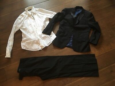 "Mens Black Tuxedo and White Shirt - Jacket 38S and Trousers W36"" L31"""