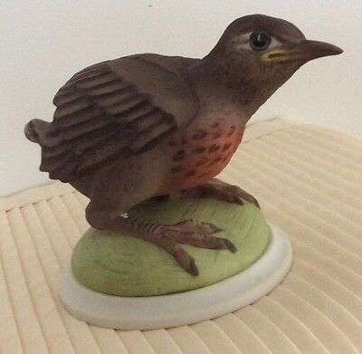 """Boehm Porcelain Figurine """"BABY ROBIN"""" 437 Repaired"""