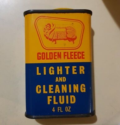 Golden fleece 4 fl oz lighter and cleaning fluid oil tin