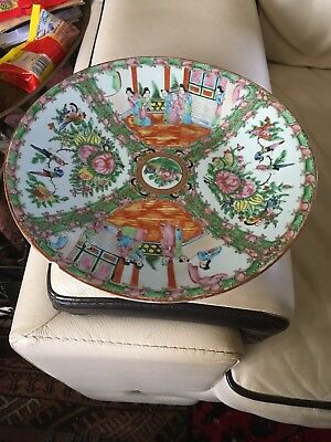 Antique Chinese Canton Plate