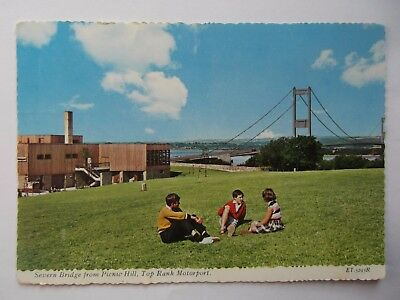 Postcard Of Severn Bridge From Top Rank Motor Port,  Posted In 1974