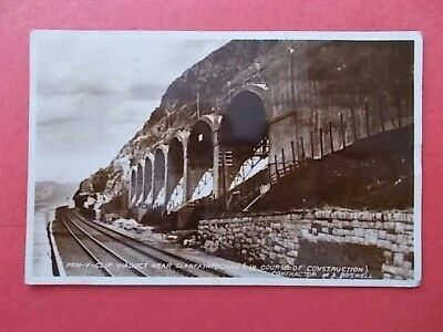 postcard construction of Pen-y-clip viaduct,nr. Llanfairfechan