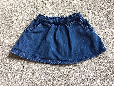 Next, Girls, 6-9 Months, Denim Skirt