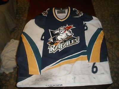 Quebec Rafales Game Used Road Hockey Jersey #6 NOBR Bauer 56 IHL