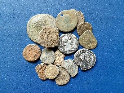roman coins, metal detecting finds