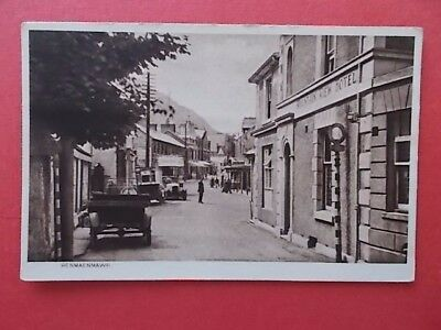 postcard Penmaenmawr, Mountain View Hotel & small motor bus