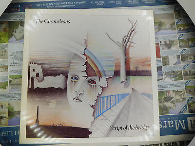 ORIGINAL THE CHAMELEONS 1983 LP SCRIPT OF THE BRIDGE  Statik STAT LP 17 MINT