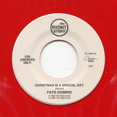 "Fats Domino ‎Single 7"" Christmas Is A Special Day - Rar! rotes Weihnachts Vinyl"