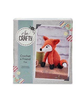 So Crafty Crochet Fox Kit Complete Kit Create Your Own Fox Craft Sewing
