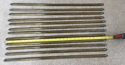 12 Genuine Brass (not plated) Stair Carpet Rods