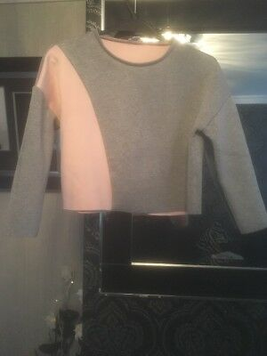 Girls River Island Cropped Jumper Top Age 9-10