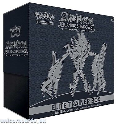 Pokemon TCG: Sun and Moon: Burning Shadows Elite Trainer Box :: Brand New And Se