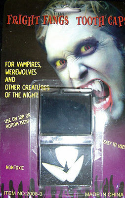 Halloween Vampire Fright Fangs 1 x 2 pair in Storage Box Werewolf