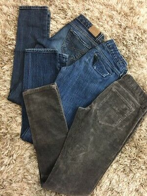 Lot Of 3 Womens Size 0 Skinny Jeans Aeropostale American Eagle Banana Re H21