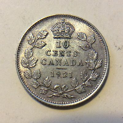 1921 Canadian Dime Coin  G989  Free Shipping High Grade