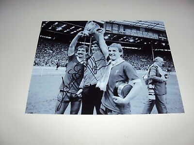 Souness & Hansen Signed 10X8 Photo Liverpool Legends Anfield Heroes Cup Win, Coa