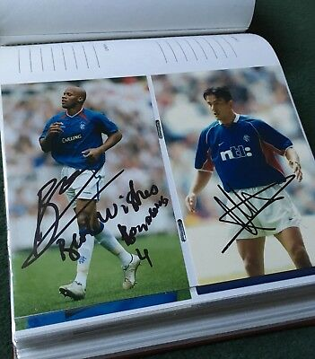 Collection Of Glasgow Rangers Players Signatures