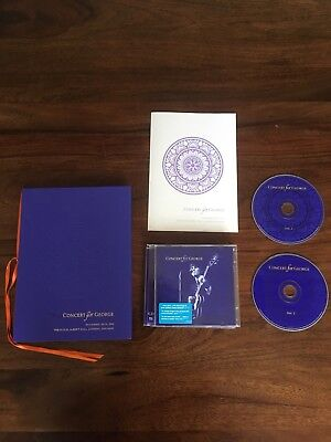 """""""Concert For George"""" 2 CDs Programme And Book"""