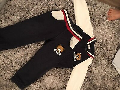 Baby Boys Moschino Tracksuit Outfit Age 12-18 Months