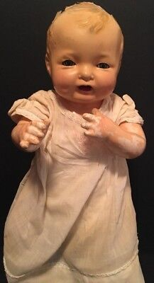 """Antique 1924 EFFANBEE 18"""" Doll Bubbles Composition Doll Sleepy Eyes Made In USA"""